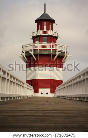 Lighthouse (abstract) - stock photo