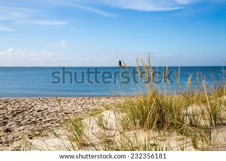 Lighthouse along the Delaware seashore. - stock photo