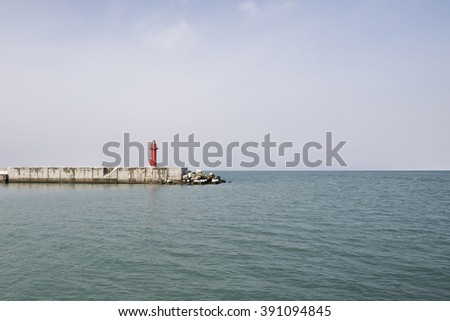 lighthouse and sea - stock photo
