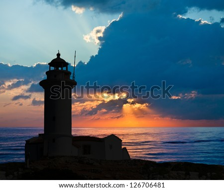 Lighthouse and the sunset