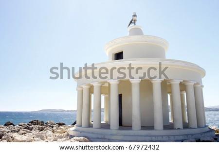 Lighthouse Argostoli in Kefalonia in Greece - stock photo
