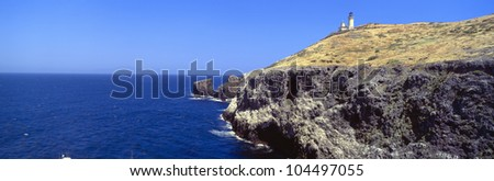 Lighthouse at Anacapa Island, Channel Islands National Park off Ventura, California - stock photo