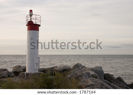 lighthouse at bluffs park - stock photo