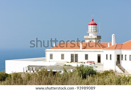 lighthouse at Cabo Mondego, Portugal