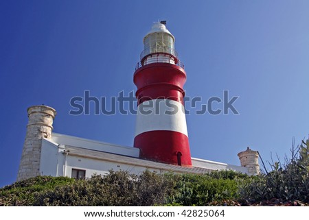Lighthouse at Cape Agulhas, the most southern point of Africa