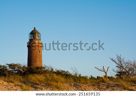 lighthouse at Darss Peninsula in Germany