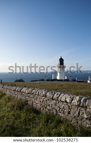Lighthouse at Dunnet Head, the norhern most point of UK mainland