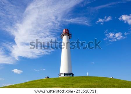 Lighthouse at Long Beach, California, USA - stock photo