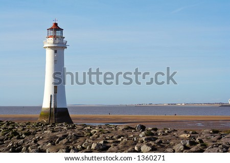 Lighthouse at New Brighton, Merseyside, England.