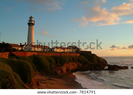 lighthouse at Peogon Point, california
