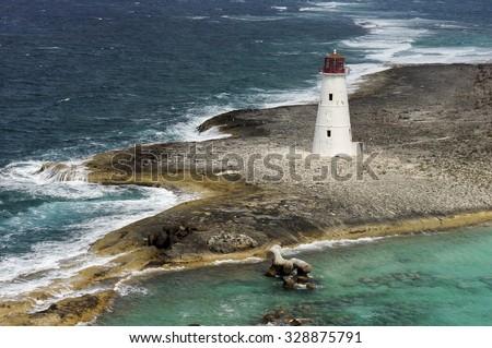 Lighthouse at the Bahamas  - stock photo