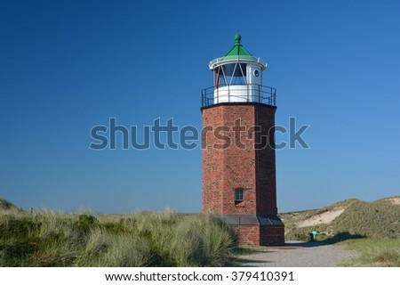 lighthouse at the island Sylt in Northern Sea, germany