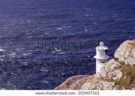 Lighthouse at the Sheep´s head - stock photo