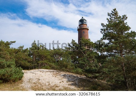 "Lighthouse at the so called ""DarÃ?er Ort""/Germany"