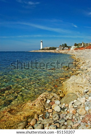 Lighthouse, Cape Corsons near Sevastopol