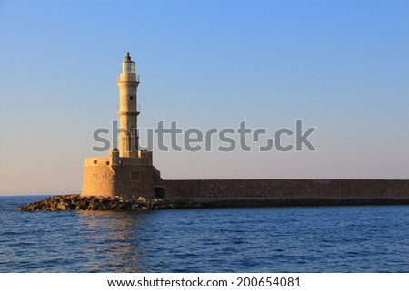 Lighthouse Chania Crete day shot