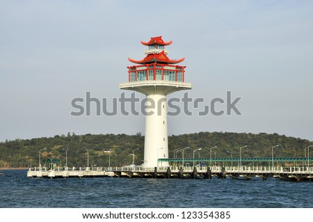 Lighthouse Chinese Style Day New - stock photo