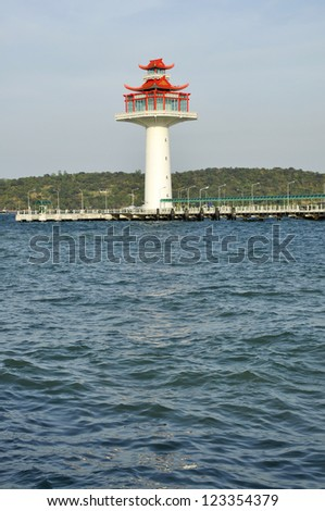 Lighthouse Day Chinese Style New - stock photo