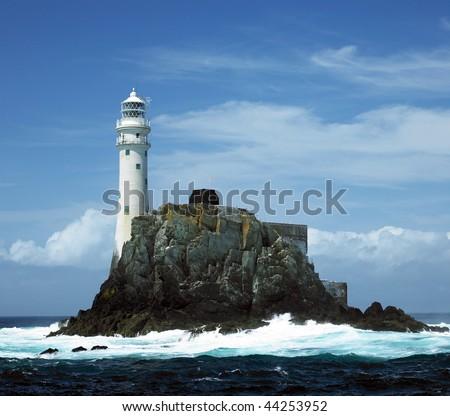 lighthouse, Fastnet Rock, County Cork, Ireland - stock photo