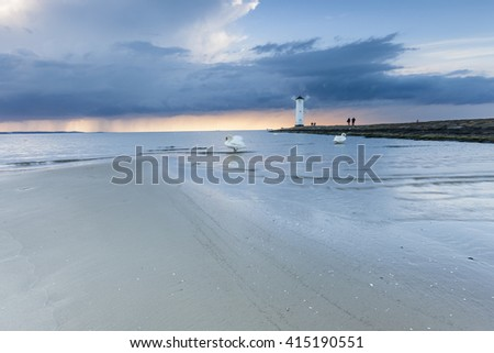 Lighthouse from Swinoujscie on the baltic sea