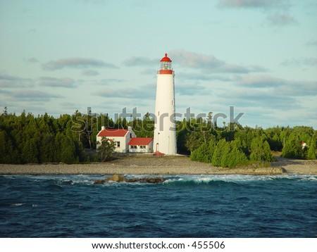 Lighthouse, Georgian Bay in Canada - stock photo