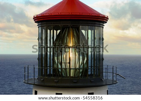 Lighthouse Glass, Detailed View - stock photo