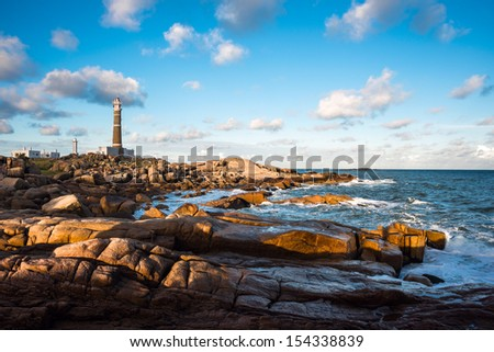 Lighthouse in Cabo Polonio, Rocha, Uruguay - stock photo