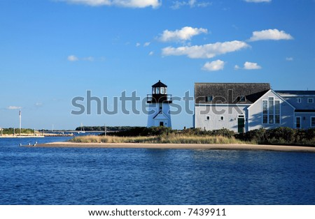Lighthouse in Cape Cod - stock photo
