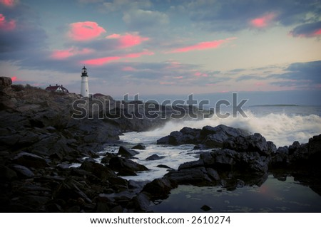 Lighthouse in early morning