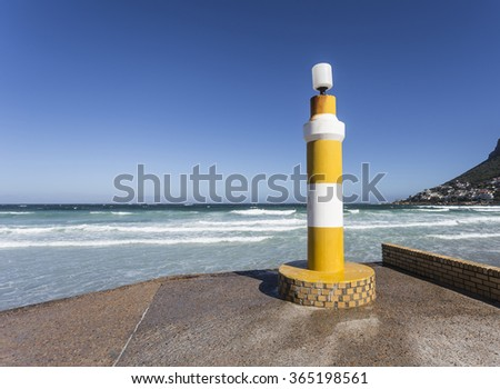 Lighthouse in Fish Hoek - stock photo