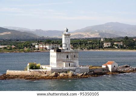 Lighthouse in Olbia (Europe - Italy - Sardinia)