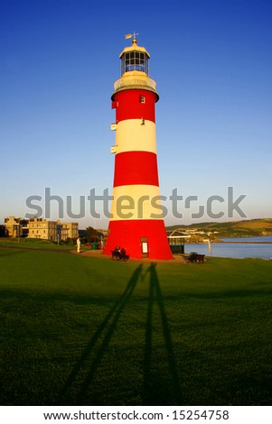 Lighthouse in Plymouth, England, UK - stock photo