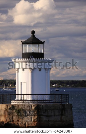 Lighthouse in Portland, Maine - stock photo