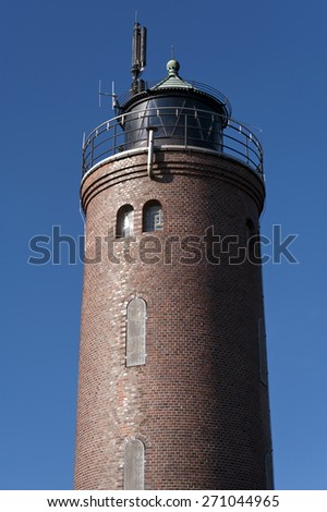 Lighthouse in St. Peter-Ording, Germany - stock photo