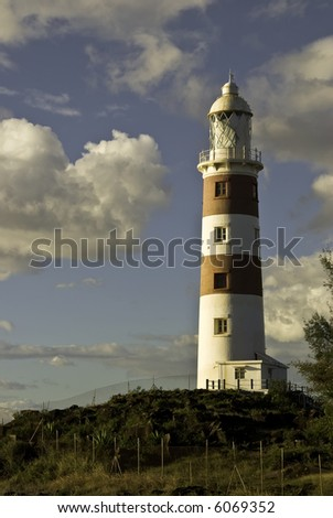 Lighthouse in sunset light