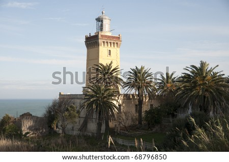Lighthouse in Tanger, Morocco