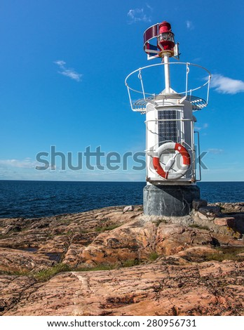 Lighthouse in the Swedish archipelago