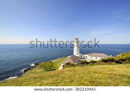 lighthouse in Trevose, Cornwall, UK