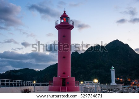 Lighthouse in Ulleungdo Island, South Korea.