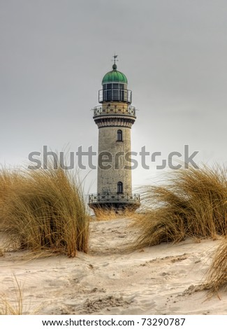 Lighthouse in Warnem�¼nde (Mecklenburg-Vorpommern, Germany) 04 - stock photo