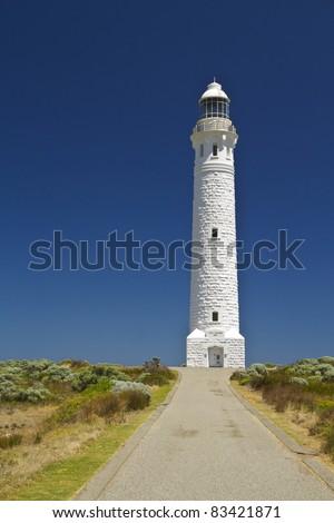 Lighthouse in Western Australia against blue sky - stock photo