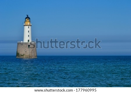 Lighthouse into the blue