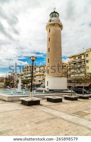 Lighthouse of Alexandroupolis city in Greece - stock photo