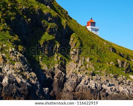 Lighthouse of Runde Island (Norway) - stock photo