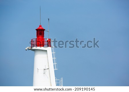 Lighthouse of St Malo againts blue sky, Brittany, France - stock photo