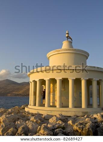 Lighthouse of St. Theodore at Argostoli of Kefalonia island in Greece - stock photo