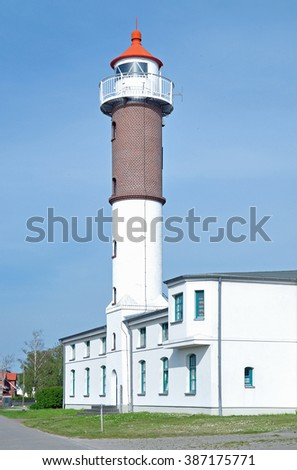 Lighthouse of Timmendorf on Poel Island at baltic Sea,Mecklenburg Western Pomerania,Germany