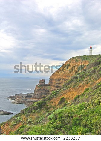 Lighthouse on australian coast (Victoria, Australia)
