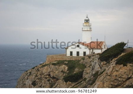 Lighthouse on Cap de Capdepera, Majorca, Spain