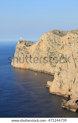 Lighthouse on Cap de Formentor. Mallorca island, Spain